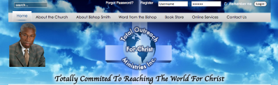 Total Outreach for Christ is a wonderful new site by Web-Jive