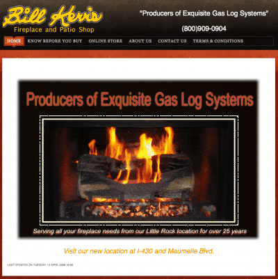 Bill Kerr's Fireplace and Patio Shop gets a new site!