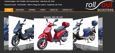 Rollout Scooters is a hot site for a growing company!