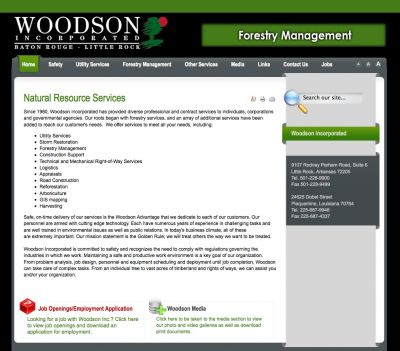 Another great website by Web-JIVE.com, Woodson Inc.