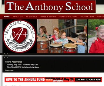 Anthony School gets a new site!!!